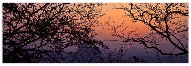 登天梯看夕陽