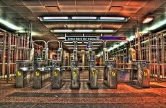35th Street Station (Christopher.F Photography) Tags: chicago station nikon cta empty highdynamicrange turnstyle 35thstreet photomatix d3000