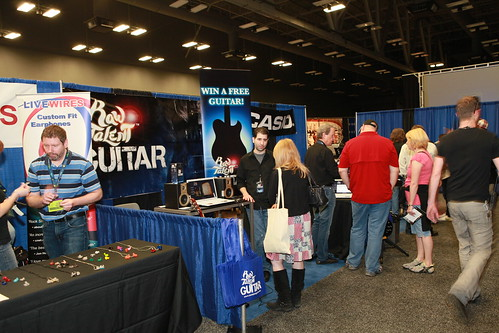 Raw Talent Guitar booth in Gear Alley at SXSW 2011