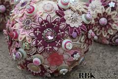 Bride Button Bouquet (rbkcreations) Tags: pink flowers beige buttons cream ivory mauve teapot weddings taupe buttonbouquet rbkcreations