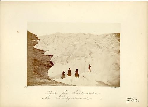 """""""Parti fra Svartisdalen, Mo, Helgeland"""" by Riksarkivet (National Archives of Norway)"""