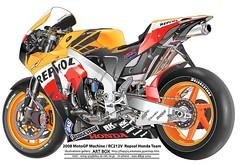 REPSOL (illustrator Muneharu) Tags: car bike illustration honda design artwork vectorart drawing machine adobe technical motor illustrator vector freelance