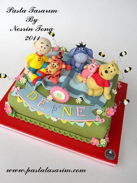 WINNIE THE POOH AND CAILLOU CAKE - DEFNE BIRTHDAY