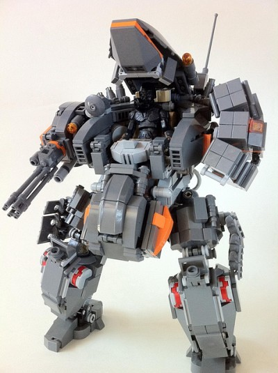 toybot studios: LAB-002 FULCRUM LEGO Mech by kwi-chang