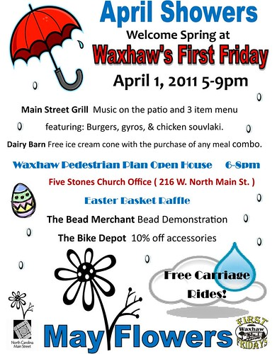 April First Friday flyer