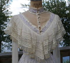 Gunne Sax Victorian Inspired Ivory Cotton & Lace Ruffled Gown Bodice Front (mondas66) Tags: ruffles ribbons lace victorian cotton romantic ribbon gown elegant gowns ornate lacy frilly elegance ruffle gunnesax frills frill ruffled flouncy flounce lacework frilled ribboned flounces frilling frillings befrilled