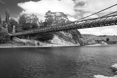 Clifden Suspension Bridge (tewahipounamu) Tags: bridge newzealand neuseeland clifden southernscenicroute waiauriver