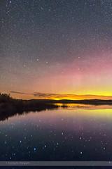 Big Dipper Reflection (Amazing Sky Photography) Tags: alberta aurora autumn bigdipper constellation northernlights policeoutpostprovincialpark lake nightscape plough reflections water