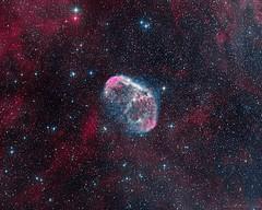 Crescent nebula NGC 6888 (Mickut) Tags: komakallio triussx814 emissionnebula ngc6888 crescentnebula narrowband borensimon astrometrydotnet:id=nova1751361 astrometrydotnet:status=solved