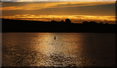 Tamar Lake Sunset (Boba Fett3) Tags: cornwall kernow lakes water westcountry panoramic photostitch tamar sunset silhouettes outdoors outside
