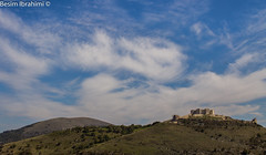 Old Castle with a beautiful landscape and sky (BesimIbrahimii) Tags: castle old kosovo balkan sky landscape nature cloud cloudy blue background autumn fortress palace kosova albania artane novoberde europe hill mountain outdoor moutainside mountainside october