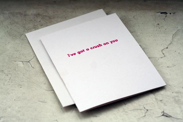 Letterpressed Valentine