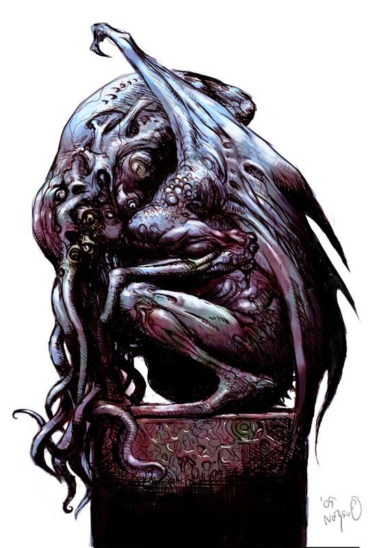 Tatsuya Nemoto (H.P Lovecraft Illustration) Cthulhu 8