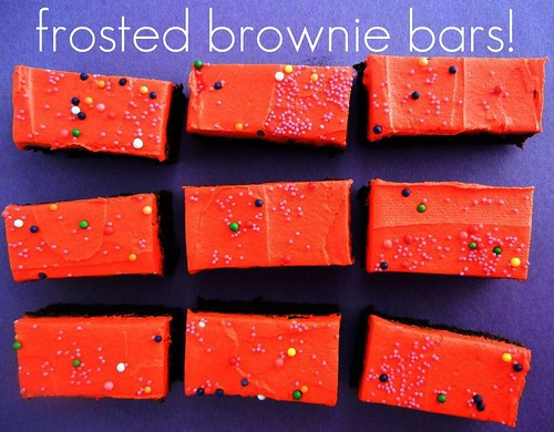 frosted brownie bars