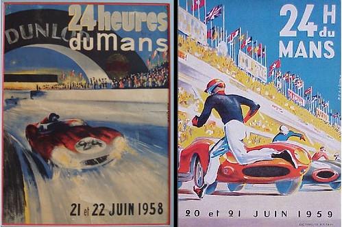 Poster_Le Mans #1958 #1959