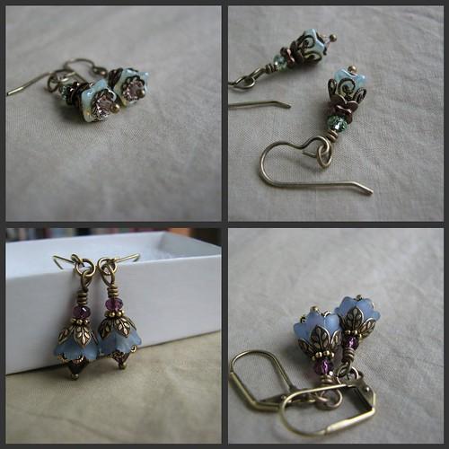 Picnik collage earrings