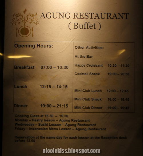 agung restaurant dining hours