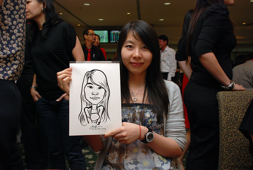 caricature live sketching for Thorn Business Associates Appreciate Night 2011 - 30