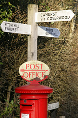 Post Box Peaselake (Adam Swaine) Tags: county uk trees red england english canon landscape countryside village post box britain villages surrey east postbox oldpostoffice counties signposts naturelovers villagesigns surreyhills thisphotorocks villagenames peaselake