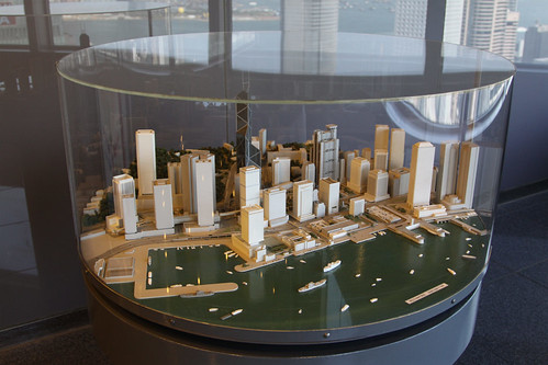 Model of the area around Central on Hong Kong Island, dating back to 1988