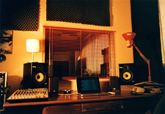 attempt (^RaVa^) Tags: music film last analog 35mm studio this is mac pentax kodak 28mm band mixer monitor equipment rack 400 mantova musica controlroom audio attempt recording regia tascam krk mesuper pellicola analogico produzione registrazione audioboard strumentazione registrare flickraward loudtubes thisismylastattempt