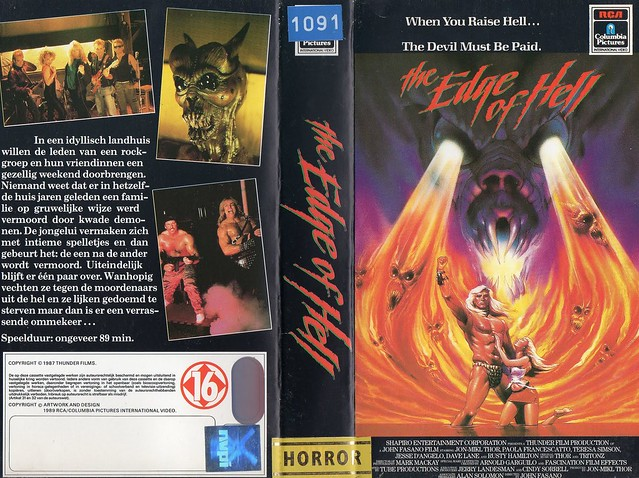 The Edge Of Hell (VHS Box Art)