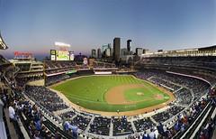 Target Field Sunset Panorama Redux (Icedavis) Tags: sunset panorama field minnesota evening twins baseball pano cities twin target mn mlb