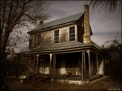 Solitude (History Rambler) Tags: old chimney house abandoned home stone architecture rural woods south northcarolina historic southern porch plantation lonely antebellum decayed tinroof franklincounty oncewashome sx130is