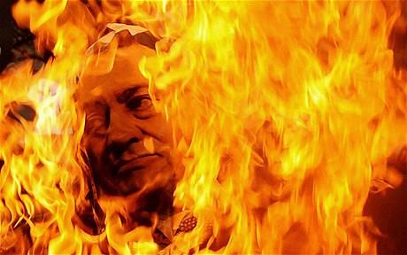 Mubarak Burns