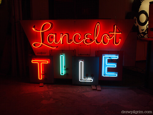 museum of neon art: lancelot tiles