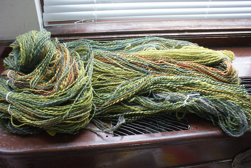 January's pound of fiber: spun!
