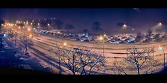 12 shot panorama of the storm tonight on Lake Shore drive (-syed) Tags: snow chicago downtown snowstorm lakeshoredrive blizzard feb2nd