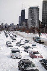 LakeShoreDrive is Kaput (Explore 2/2/11) (Tommy6unz) Tags: lake snow chicago town nikon shore redeye around blizzard wbez chicagoist 2011 d5000 vdrive