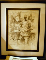 Christopher M's framed sketch of Chef Daniel Moody (Exclusive Collections Gallery) Tags: relate christopherm popuprestaurant danmoody relationchef ecgallery exclusivecollections relaterestaurant