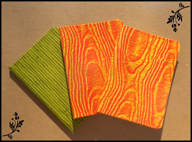 3 Fabric Covered Mini Notebooks 2