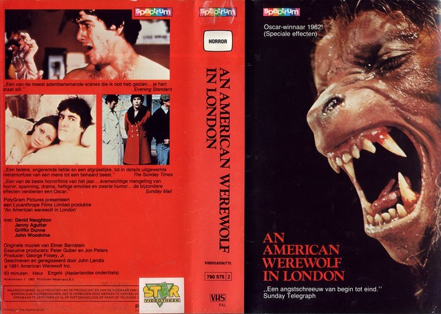 An American Werewolf In London (VHS Box Art)