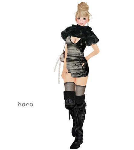 >>>Poison<<< GIFT_Black & white_dress