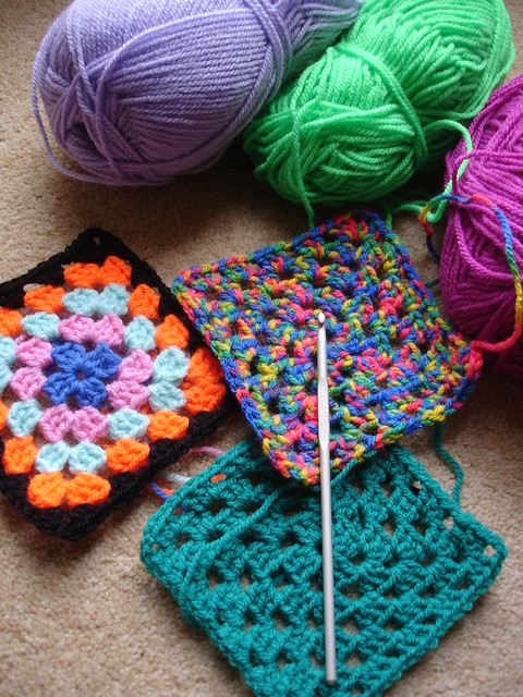 Crocheting a rainbow WIP 002