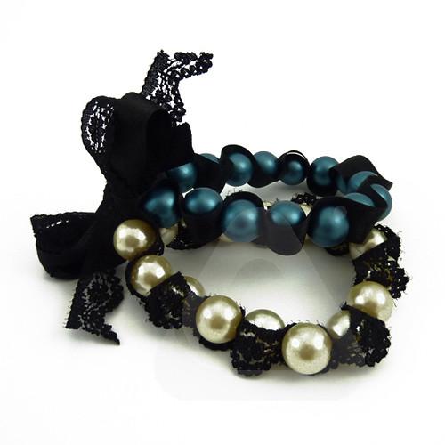 Pulsera Salon con perlas de colores