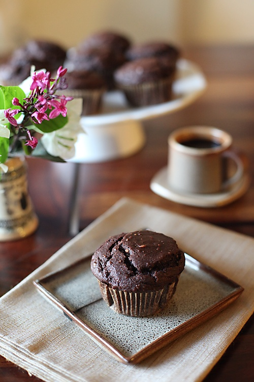 Vegan Chocolate Peanut Muffins