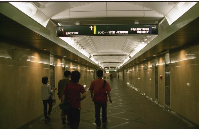 地下通路のフリー写真素材