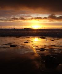 Sunset (Tiff3D) Tags: sunset sea england sun reflection water night clouds sand day devon perfectsunsetssunrisesandskys top20sunsetsofourhearts