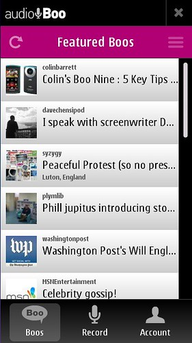 Audioboo, N8: Featured Boos