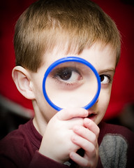 365-7 (Krista Gabbard) Tags: boy playing eye child son magnifyingglass magnify 365project