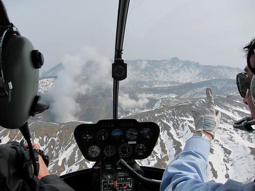 Approching Mt. Aso
