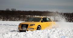 Audi RS4 (JohnnyMinor) Tags: lake 3 snow ice minnesota club canon rebel lakes racing glacier bmw series audi mn coupe drift rs4 quattro xti eurowerks