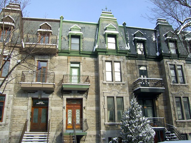 Second Empire Style row houses, Laval and Prince-Arthur.