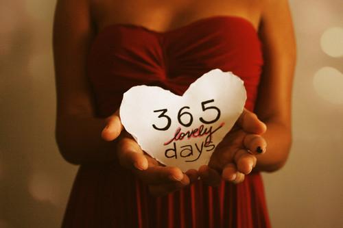 1/365. Um ano com muito amor.