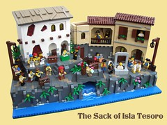 The Sack of Isla Tesoro (2 Much Caffeine) Tags: ride lego pirates disney piratesofthecaribbean moc foitsop