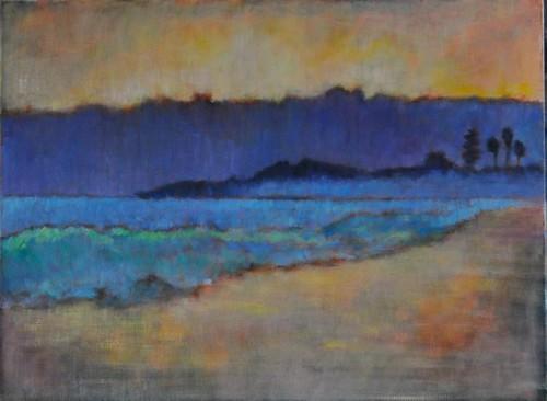 Seascape painting, Coronado Island, San Diego California